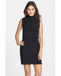French Connection Turtleneck Sleeveless Popover Dress - Lyst