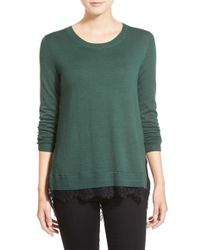 Chelsea28 Nordstrom - Mixed Media Sweater - Lyst