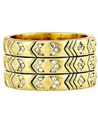 House Of Harlow Echo Crest Ring - Lyst