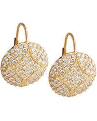 Jamie Wolf - Large Disc Earrings With Diamonds - Lyst