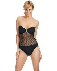 Ivanka Trump - One Piece Lace Bandeau Swimsuit - Lyst