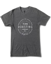 TOMS - Roasting Co. Stack Tee - Lyst
