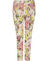 Etro Floral Cady Capri Trousers - Lyst