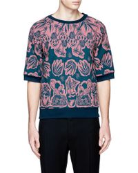 Paul Smith Botanical Art Garden Jacquard Cotton-Silk Blend Sweatshirt multicolor - Lyst