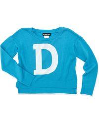 Un Deux Trois Dintarsia Highlow Sweater - Lyst