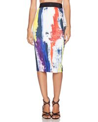 Milly Printed Pencil Skirt - Lyst