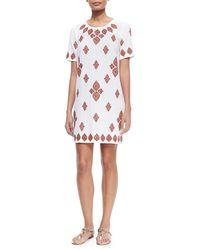 MICHAEL Michael Kors Embroidered T-Shirt Dress - Lyst