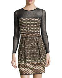 M Missoni Long-Sleeve Illusion Sweaterdress - Lyst