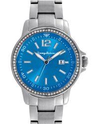 Tommy Bahama - 'island Breeze' Crystal Bezel Bracelet Watch - Lyst