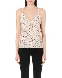 The Kooples - Swallow Print Silk Camisole - Lyst