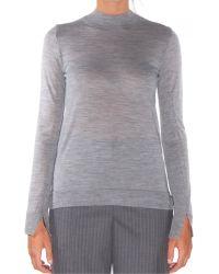 O'2nd - Symphony Melange Gray Turtleneck Sweater - Lyst