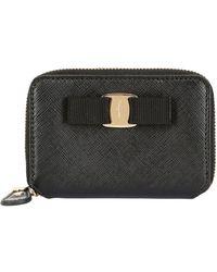 Ferragamo Saffiano Leather Coin Purse - Lyst
