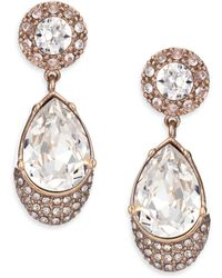Givenchy | Victorian Crystal Magnetic Drop Earrings | Lyst