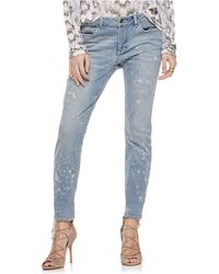 Two By Vince Camuto - Distressed Skinny Jeans-splash Blue - Lyst