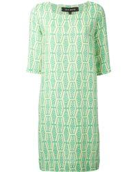 Ter Et Bantine Pleated Back Jacquard Dress - Lyst