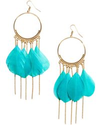 H&M Earrings With Feathers - Lyst