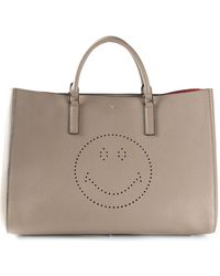 Anya Hindmarch Maxi 'Smiley' Featherweight Ebury Tote - Lyst