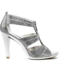 Michael Kors Berkley Glitter Zip Sandal - Lyst