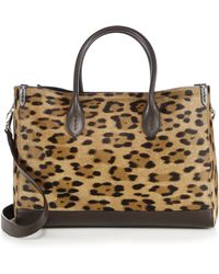Ralph Lauren | Leopard-print Calf Hair & Leather East-west Tote | Lyst