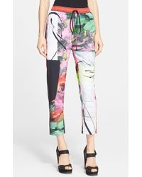 Clover Canyon 'Painted Garden' Print Pants - Lyst