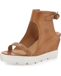 Max Studio Zine Hidden-Wedge Platform Sandal - Brown