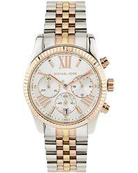 Michael Kors Tri-colour Lexington 38mm Chronograph Watch - Lyst