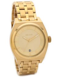 Nixon Monopoly Watch  Gold - Lyst