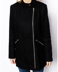 Oasis Fashion Biker Coat - Black