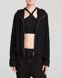 Helmut Lang Jacket - Undulate Hooded Jersey - Lyst