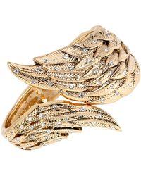 Betsey Johnson Heaven Sent Crystal Wing Cuff Bracelet - Metallic