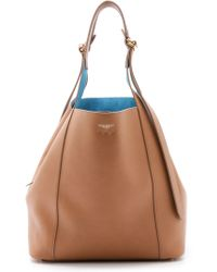 Nina Ricci Leather Bucket Bag With Contrast Lining - Noisette - Lyst