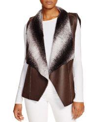 Sienna Rose - Reversible Ombre Faux Fur Drape Vest - Compare At $165 - Lyst
