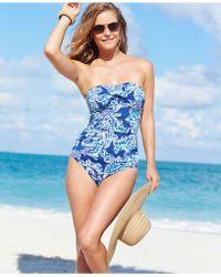 Lauren by Ralph Lauren Paisley-Print One-Piece Swimsuit - Lyst