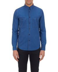 Theory Blue Milhouse Shirt - Lyst