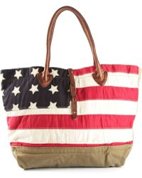 Ralph Lauren Camouflage and American Flag Tote - Lyst