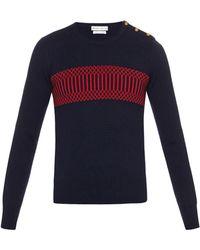 Michael Bastian - Geometric-intarsia Cashmere Sweater - Lyst