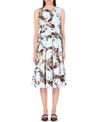 Erdem Floral-Print Pleated Summer Dress - For Women - Lyst