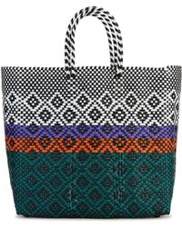 Truss Sunset Woven Tote - Green