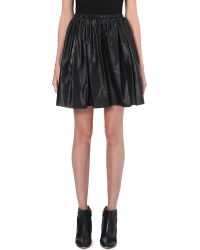 Christopher Kane Pleated A-Line Mini Skirt - Lyst