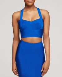 Wow Couture - Cropped Bandage Sleeveless Top - Lyst