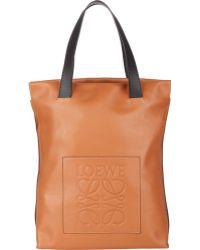 Loewe Contrast-Handle Shopper Tote - Lyst