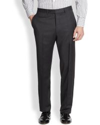 Canali Wool Trousers - Lyst