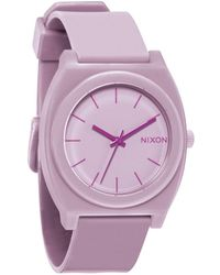 Nixon Matte Thistle The Time Teller P Watch pink - Lyst