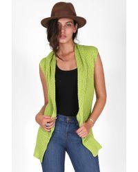 Goddis Ashley Sleeveless Femme Cardi green - Lyst