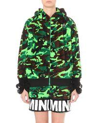Mini Cream - Bear-detail Camouflage Fleece Hoody - Lyst
