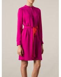 Gucci Pink Shirt Dress - Lyst