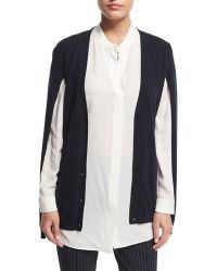 Max Mara   Button-Front Cashmere Sweater Cape   Lyst