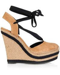 Gucci Alexis Espadrille Wedges - Lyst
