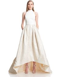 Theia | gold High-low Ballgown | Lyst