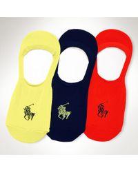 Polo Ralph Lauren No-show Liner Sock 3-pack - Lyst